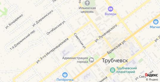 Советская улица в Трубчевске с номерами домов на карте. Спутник и схема онлайн