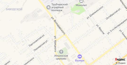 Улица Володарского в Трубчевске с номерами домов на карте. Спутник и схема онлайн