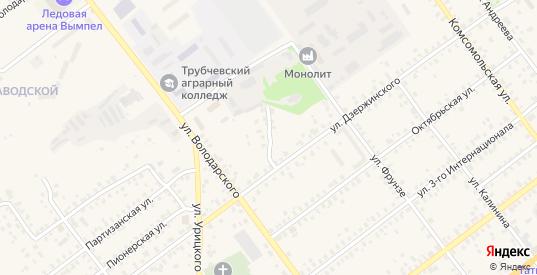 2-й Дзержинский переулок в Трубчевске с номерами домов на карте. Спутник и схема онлайн