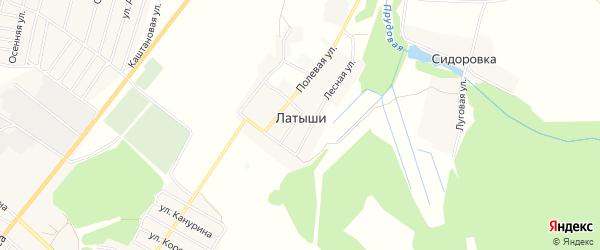 Карта поселка Латыши в Брянской области с улицами и номерами домов