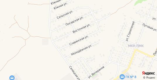 Славянская улица в Трубчевске с номерами домов на карте. Спутник и схема онлайн