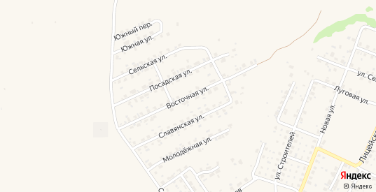 Восточная улица в Трубчевске с номерами домов на карте. Спутник и схема онлайн