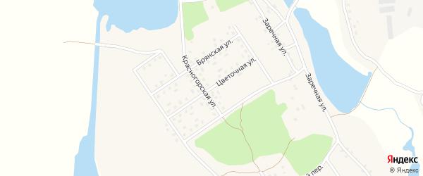 Цветочная улица на карте села Новоселки с номерами домов