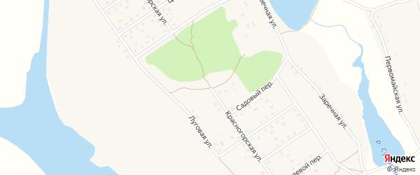 Красногорская улица на карте села Новоселки Брянской области с номерами домов