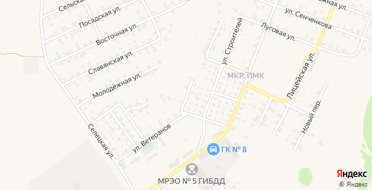Строительный переулок в Трубчевске с номерами домов на карте. Спутник и схема онлайн