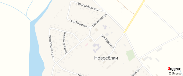 Территория ГО по ул Резцова на карте села Новоселки Брянской области с номерами домов
