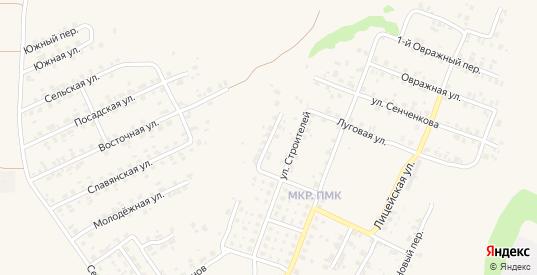 Переулок Строителей в Трубчевске с номерами домов на карте. Спутник и схема онлайн