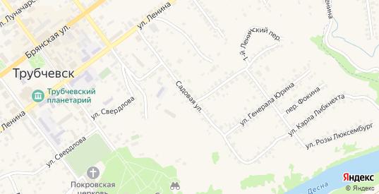 Садовая улица в Трубчевске с номерами домов на карте. Спутник и схема онлайн