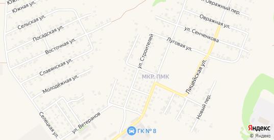 Улица Строителей в Трубчевске с номерами домов на карте. Спутник и схема онлайн