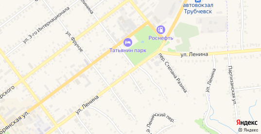 Площадь Степана Разина в Трубчевске с номерами домов на карте. Спутник и схема онлайн