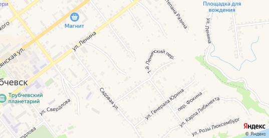 1-й Ленинский переулок в Трубчевске с номерами домов на карте. Спутник и схема онлайн