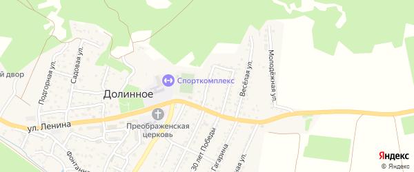 Улица Гречко на карте Долинного села Крыма с номерами домов