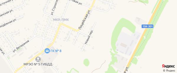 Новый переулок на карте Трубчевска с номерами домов