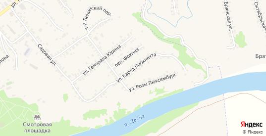 Улица Карла Либкнехта в Трубчевске с номерами домов на карте. Спутник и схема онлайн