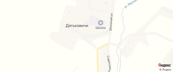 Школьная улица на карте села Дятьковичи с номерами домов