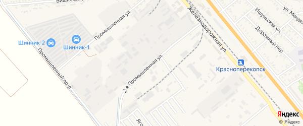 2-я Промышленная улица на карте Красноперекопска с номерами домов