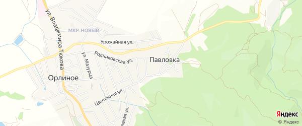 Карта села Павловки в Севастополе с улицами и номерами домов