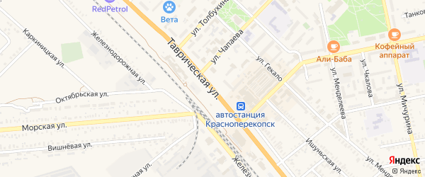 Таврическая улица на карте Красноперекопска с номерами домов