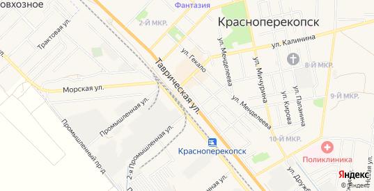 СТ Строитель на карте Красноперекопска с номерами домов