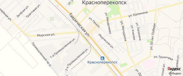 Территория ТСН Приозерье на карте Красноперекопска с номерами домов