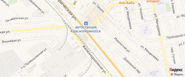 Сивашский тупик на карте Красноперекопска с номерами домов