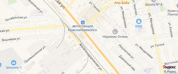 Отрадная улица на карте Красноперекопска с номерами домов