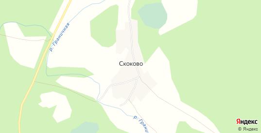 Карта деревни Скоково в Тверской области с улицами, домами и почтовыми отделениями со спутника онлайн