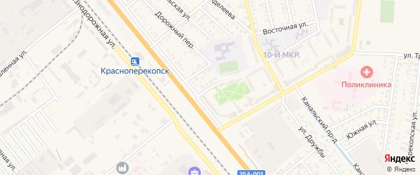 Улица Механизаторов на карте Красноперекопска с номерами домов