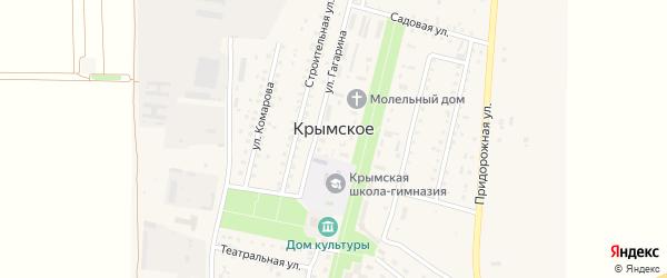 Проезд N2 на карте Крымского села Крыма с номерами домов