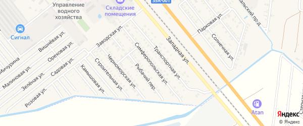 Симферопольская улица на карте Красноперекопска с номерами домов