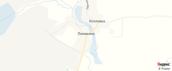 Карта деревни Ломакино в Брянской области с улицами и номерами домов