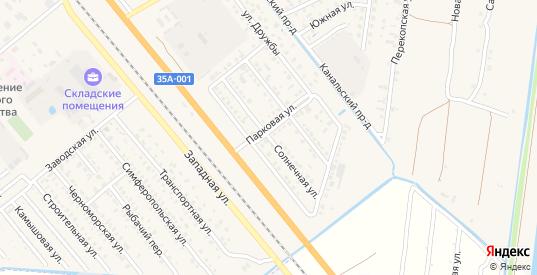 Солнечная улица в Красноперекопске с номерами домов на карте. Спутник и схема онлайн