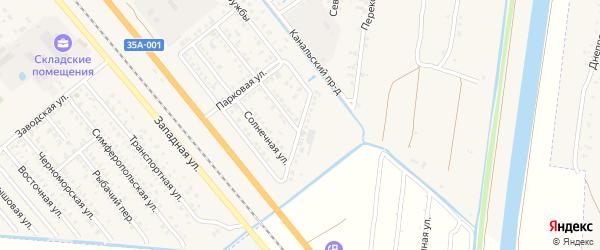 Днепровская улица на карте Красноперекопска с номерами домов