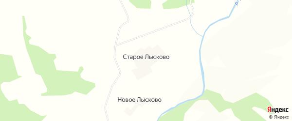 Карта деревни Старое Лысково в Смоленской области с улицами и номерами домов