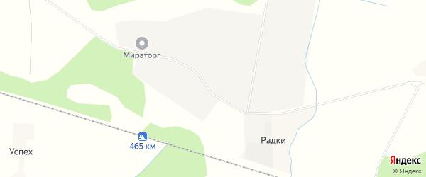 Карта деревни Радки в Калужской области с улицами и номерами домов