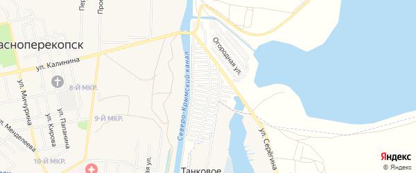 Территория ТСН Строитель на карте Красноперекопска с номерами домов