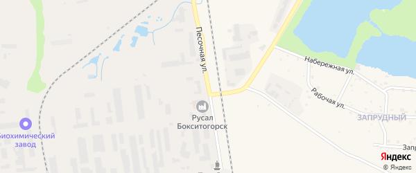 Песочная улица на карте Бокситогорска с номерами домов