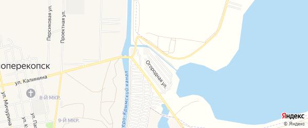 Территория ТСН Красноперекопский Мелиоратор на карте Красноперекопска с номерами домов