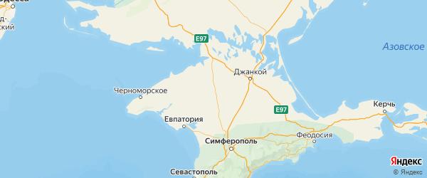 Карта Первомайского района Республики Крыма с городами и населенными пунктами