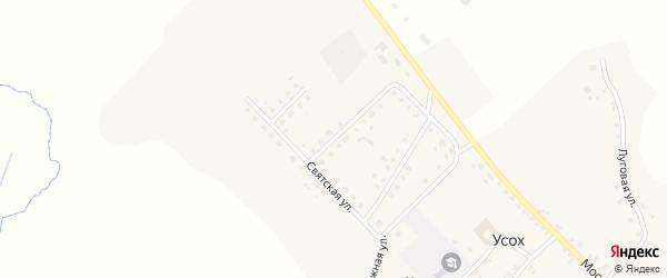 Святская улица на карте села Усоха с номерами домов
