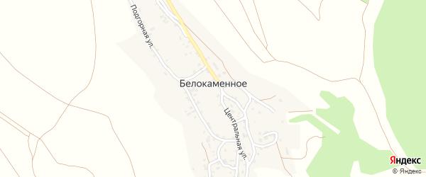 Скалистая улица на карте Белокаменного села Крыма с номерами домов