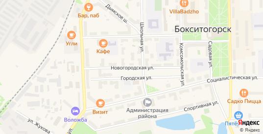 Новогородская улица в Бокситогорске с номерами домов на карте. Спутник и схема онлайн