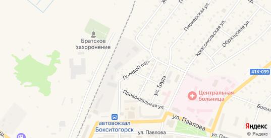 Полевой переулок в Бокситогорске с номерами домов на карте. Спутник и схема онлайн