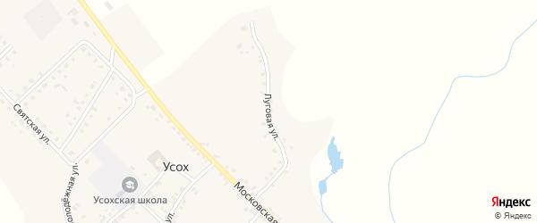 Луговая улица на карте села Усоха с номерами домов