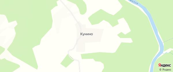 Карта деревни Кунино в Тверской области с улицами и номерами домов