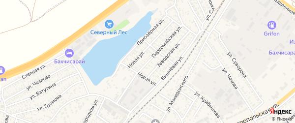 Первомайская улица на карте Бахчисарая с номерами домов