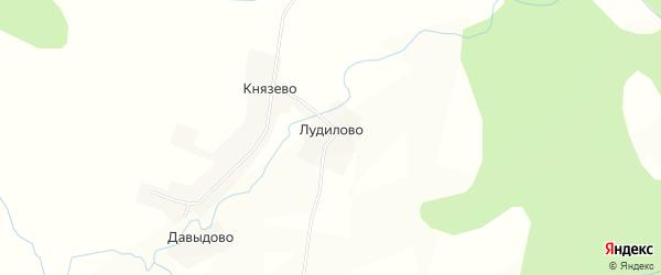 Карта деревни Лудилово в Новгородской области с улицами и номерами домов