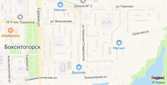 Улица Красных Следопытов в Бокситогорске с номерами домов на карте. Спутник и схема онлайн