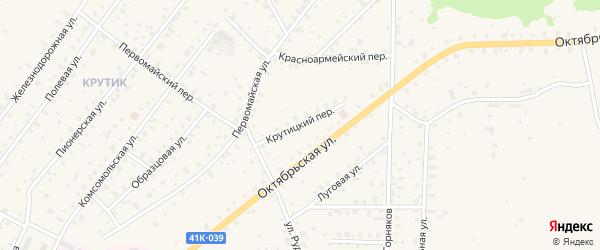 Крутицкий переулок на карте Бокситогорска с номерами домов