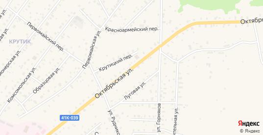 Октябрьская улица в Бокситогорске с номерами домов на карте. Спутник и схема онлайн